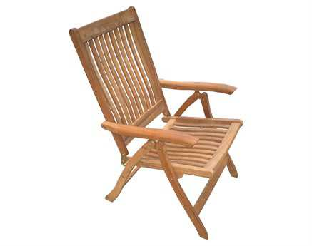 Royal Teak Collection Estate Reclining Lounge Chair PatioLiving