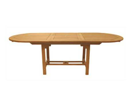 Royal Teak Collection Expansion 96 x 39 Oval Family Dining Table