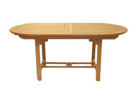 Royal Teak Collection Expansion 60''W x 35''D Oval Family Dining Table PatioLiving