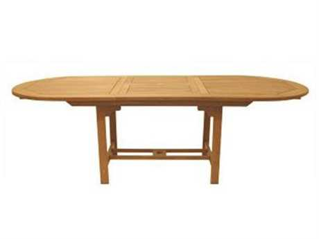 Royal Teak Collection Expansion 72''W x 39''D Oval Family Dining Table PatioLiving