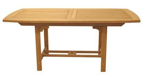 Royal Teak Collection Expansion 60''W x 35''D Rectangular Family Dining Table PatioLiving