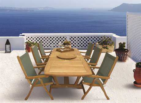 Royal Teak Collection Florida Sling Dining Set