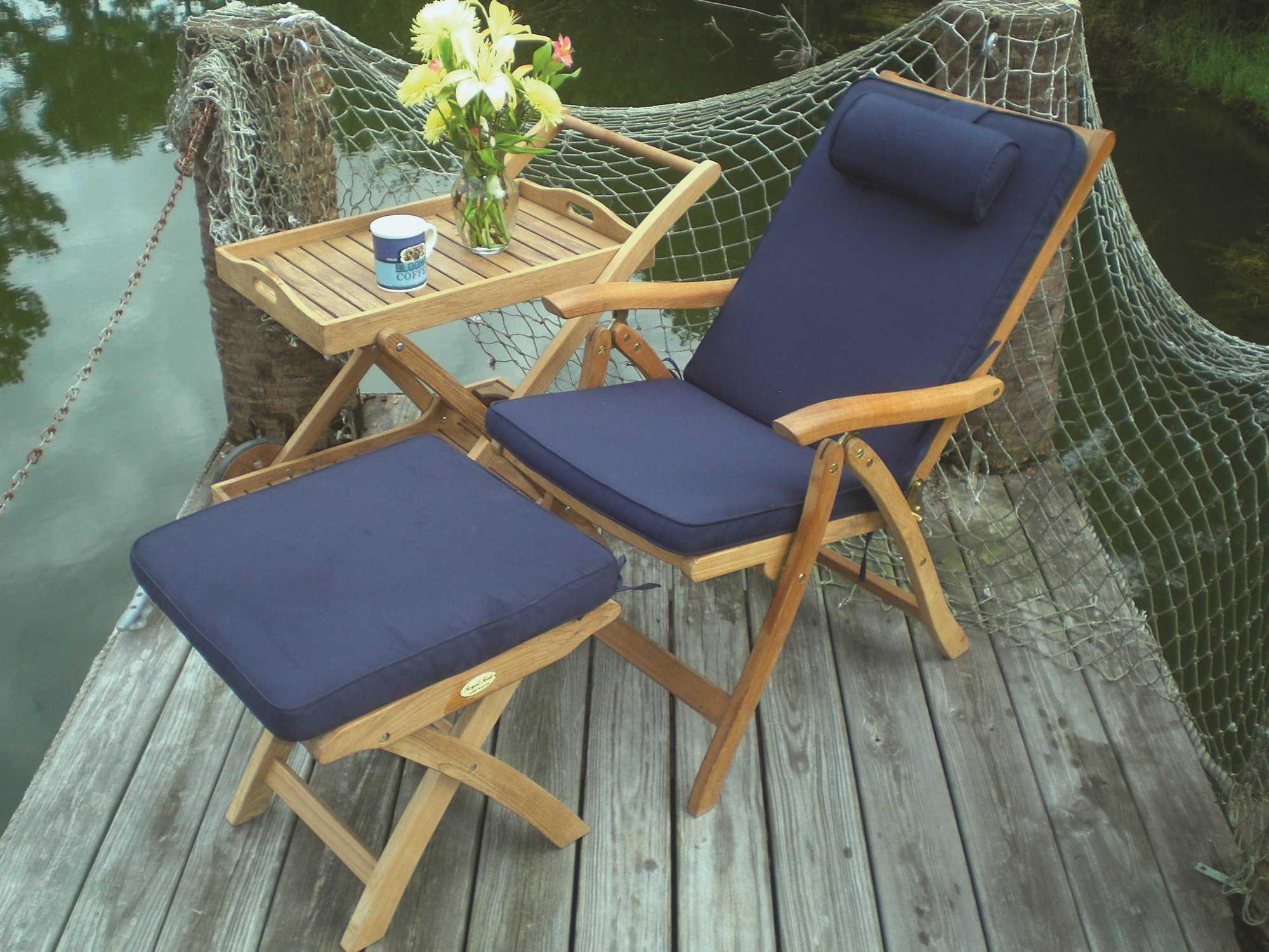 Royal Teak Collection Estate Reclining Lounge Chair Esfc