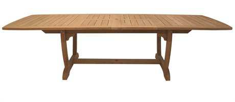 Royal Teak Collection Expansion 84''W x 43''D Rectangular Double Leaf Gala Dining Table RLGALA84