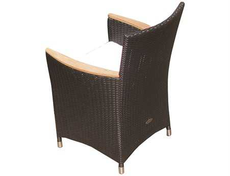 Royal Teak Helena Wicker Cushion Black Dining Chair