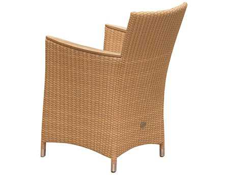 Royal Teak Helena Wicker Cushion Honey Dining Chair PatioLiving