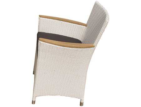 Royal Teak Helena Wicker Cushion White Wash Dining Chair