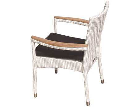 Royal Teak Helena Wicker Cushion White Wash Stacking Chair