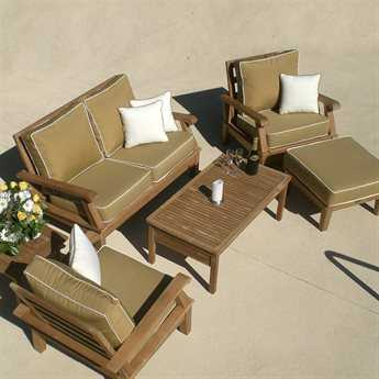 Royal Teak Collection Miami Cushion Lounge Set PatioLiving