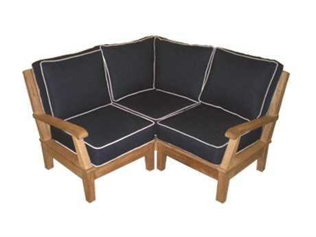 Royal Teak Collection Miami Cushion Sectional Corner