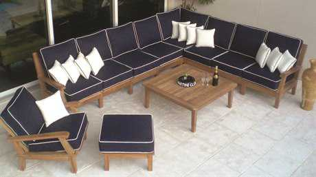 Royal Teak Collection Miami Sectional Cushion Lounge Set