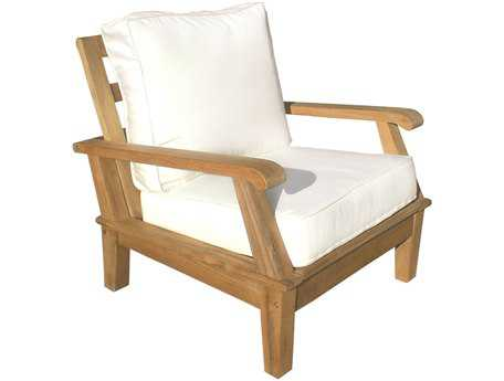 Royal Teak Collection Miami Cushion Adjustable Lounge Chair PatioLiving