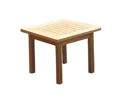 Royal Teak Collection Miami 20'' Wide Square Side Table - Teak Outdoor Furniture With Free Shipping PatioLiving