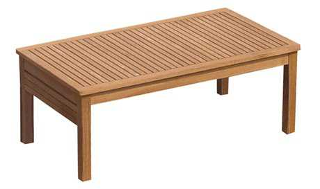 Royal Teak Collection Miami 43''W x 24''D Rectangular Coffee Table PatioLiving