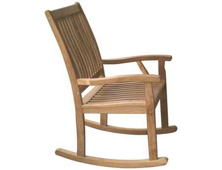 Royal Teak Collection Highback Rocking Lounge Chair PatioLiving