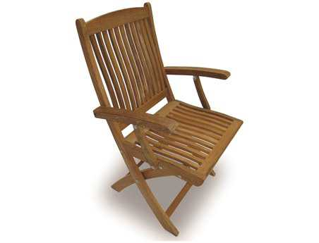 Royal Teak Collection Sailor Folding Dining Arm Chair PatioLiving