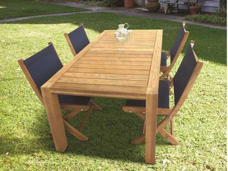 Royal Teak Collection Sailmate Sling Dining Set