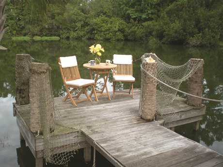 Royal Teak Collection Sailor Cushion Bistro Set