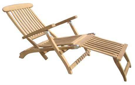 Royal Teak Collection Steamer Adjustable Chaise Lounge PatioLiving