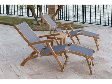 Royal Teak Collection Steamer Sling Lounge Set