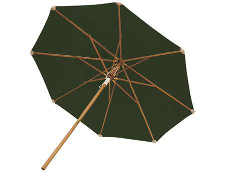Royal Teak Collection Deluxe 10 Foot Green Octagonal Manual Lift No Tilt Umbrella
