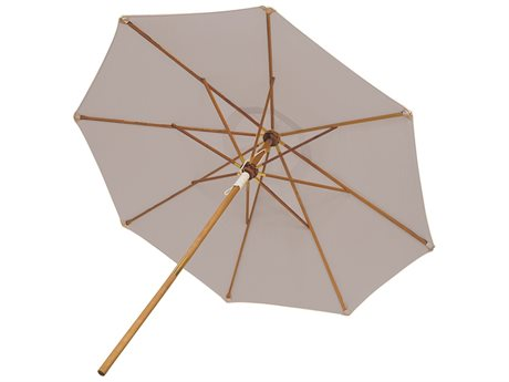 Royal Teak Collection 10' Deluxe Umbrella-Granite (Olefin Fabric)