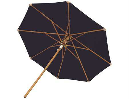 Royal Teak Collection Deluxe 10 Foot Navy Octagonal Manual Lift No Tilt Umbrella