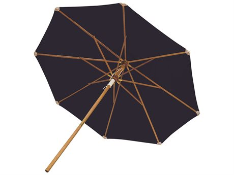 Royal Teak Collection 10' Deluxe Umbrella-Navy (Olefin Fabric)