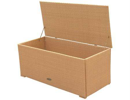 Royal Teak Collection 58 x 29 Honey Wicker Storage Box