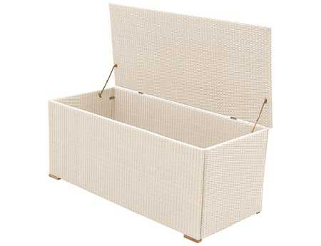 Royal Teak Collection 58 x 29 White Wicker Storage Box