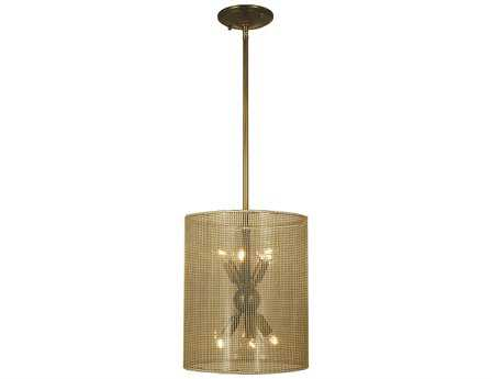 Framburg Simone Six-Light 11'' Wide Mini Chandelier