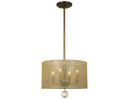Framburg Simone Four-Light 14'' Wide Mini Chandelier
