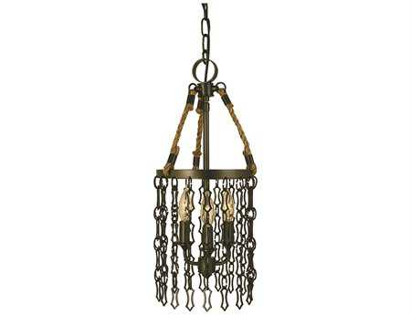Framburg Warwick Three-Light 8'' Wide Chandelier