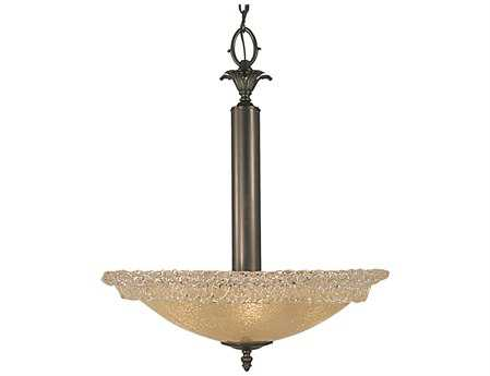Framburg Brocatto Mahogany Bronze Three-Light Pendant
