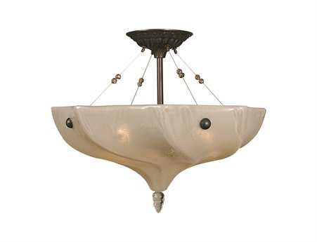 Framburg Giselle Mahogany Bronze Three-Light Semi-Flush Mount
