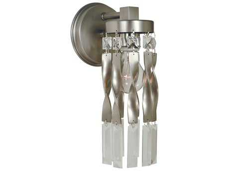 Framburg Adele Satin Pewter with Polished Nickel Wall Sconce