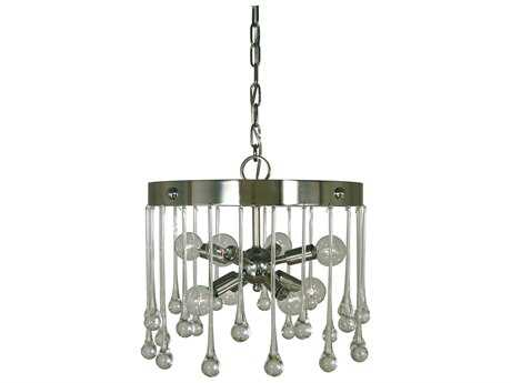 Framburg Waterfall Polished Nickel Eight-Light 14'' Wide Mini Chandelier