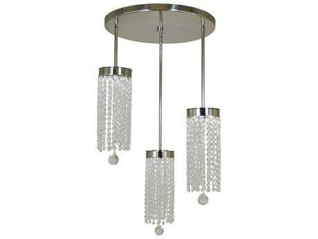 Framburg Gemini Polished Nickel Three-Light 19'' Wide LED Pendant Light