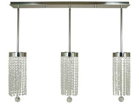 Framburg Gemini Polished Nickel Three-Light 36'' Wide LED Island Light