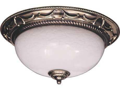 Framburg Napoleonic French Brass Two-Light 15.5'' Wide Flush Mount Light