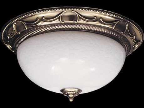 Framburg Napoleonic French Brass Three-Lights 19.5'' Wide Flush Mount Light