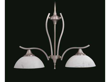 Framburg Solstice Satin Pewter with Polished Nickel Two-Light Island Light