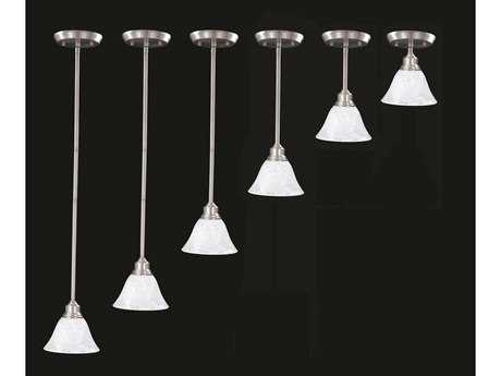 Framburg Solstice Brushed Stainless with Polished Nickel Mini-Pendant