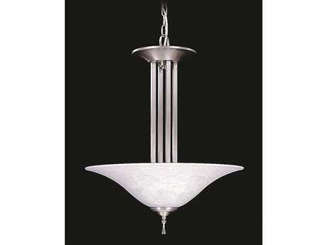 Framburg Solstice Brushed Stainless with Polished Nickel Three-Light Pendant