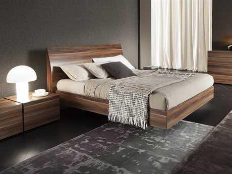 Rossetto Vela Walnut King Size Panel Bed