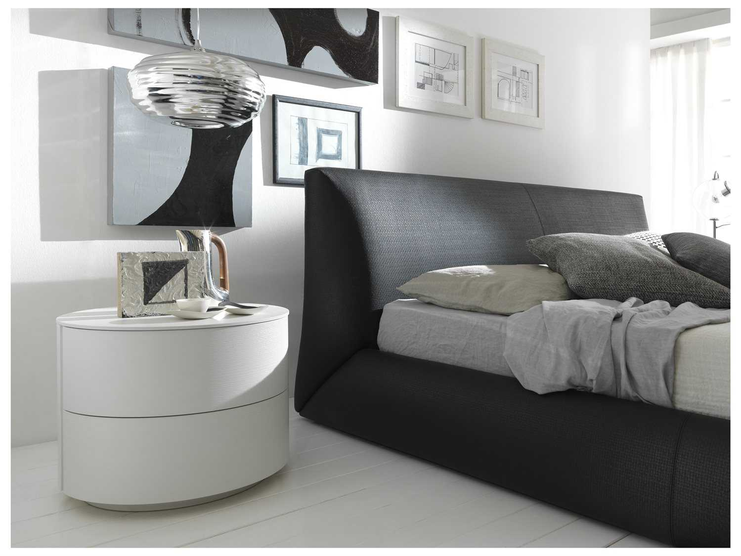 rossetto coco brown leather queen size platform bed  rosdum -