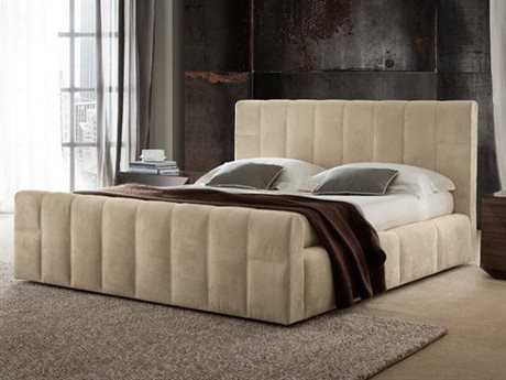 Rossetto Essence Beige Nubuck King Size Platform Bed