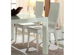 Rossetto Nightfly White & Crocodile Leather Dining Side Chair (2 Piece Set)