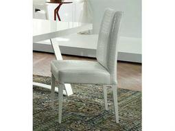 Rossetto Nightfly White & Crocodile Leather Padded Back Dining Chair (2 Piece Set)