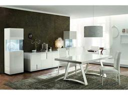 Rossetto Nightfly White Dining Set